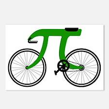 Pi Bike green Postcards (Package of 8)
