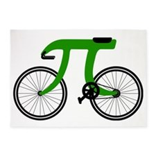 Pi Bike green 5'x7'Area Rug