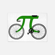 Pi Bike green 5'x7'Area Rug