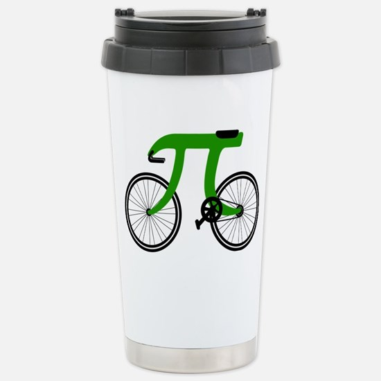 Pi Bike green Stainless Steel Travel Mug