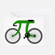 Pi Bike green Greeting Card