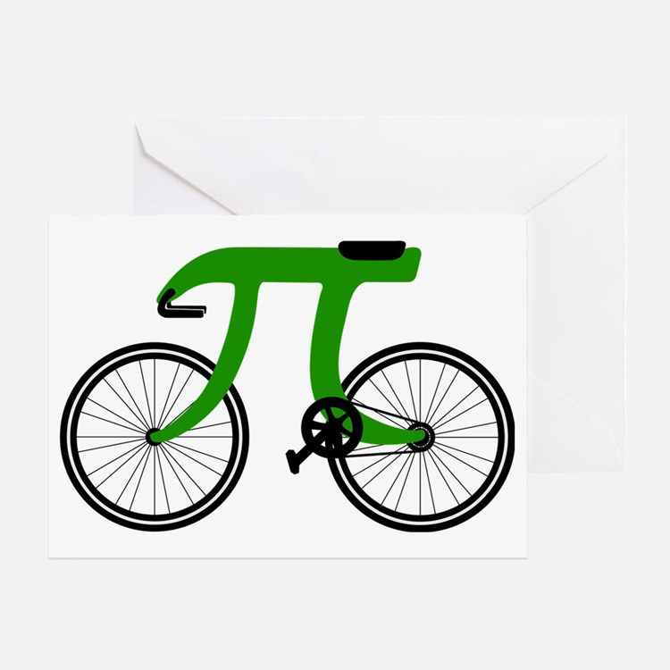 Pi Bike green Greeting Card