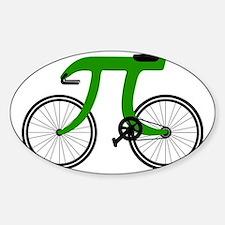 Pi Bike green Sticker (Oval)