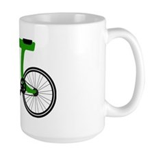 Pi Bike green Ceramic Mugs