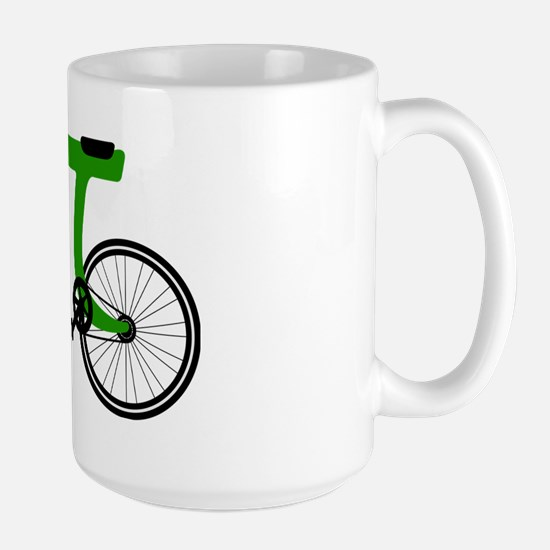Pi Bike green Large Mug