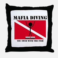 italy Mafia Mob Diving Throw Pillow