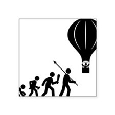 "Ballooning-AAF1 Square Sticker 3"" x 3"""