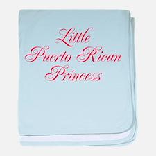 Little Puerto Rican Princess baby blanket