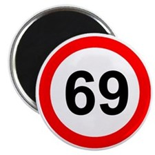 ROAD SIGN 69 LIMIT! Magnet