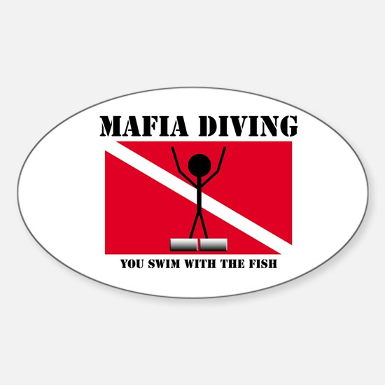 italy Mafia Mob Diving Oval Decal