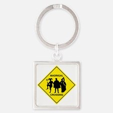 Madrigal Crossing Square Keychain