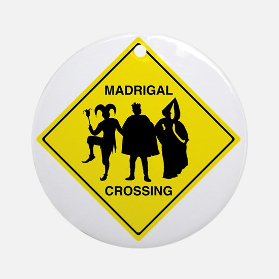 Madrigal Crossing Round Ornament