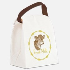 Fresh Milk with Young Calf Canvas Lunch Bag