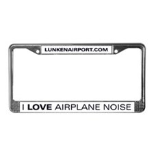 "License Plate Frame - ""I Love Airplane Noise"""