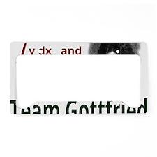 Team Gottfried License Plate Holder