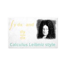 Calculus Leibniz style (dark backgr 3'x5' Area Rug