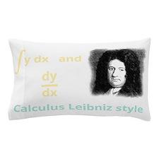 Calculus Leibniz style (dark backgroun Pillow Case