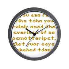 Poor Eyesight Wall Clock