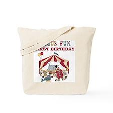 Circus Fun 1st Birthday Tote Bag