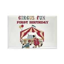 Circus Fun 1st Birthday Rectangle Magnet