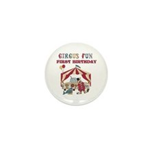 Circus Fun 1st Birthday Mini Button (10 pack)