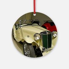 1946 MG Car Round Ornament
