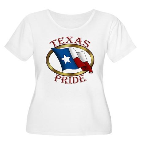 TX Flag: Texas Pride Women's Plus Size Scoop Neck