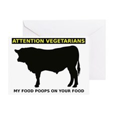 My Food Poops On Yours Funny T-Shirt Greeting Card