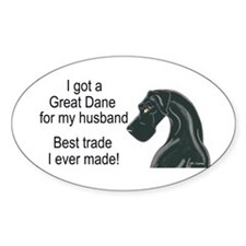 NBlk Husband Trade Oval Decal