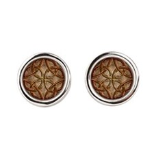 Celtic Knotwork Enamel Round Cufflinks