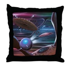 Alien life forms, artwork Throw Pillow
