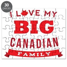 I Love My Big Canadian Family Puzzle