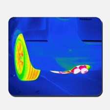 Car exhaust, thermogram Mousepad