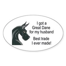 CBlk Husband Trade Oval Decal