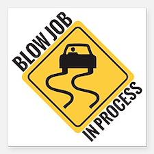 "blow job Square Car Magnet 3"" x 3"""