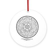 John Dee Heptagon Symbol Round Ornament