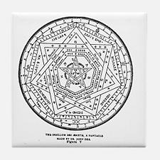 John Dee Heptagon Symbol Tile Coaster