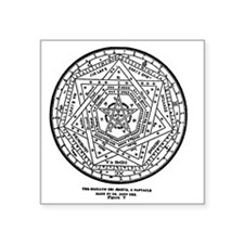"John Dee Heptagon Symbol Square Sticker 3"" x 3"""