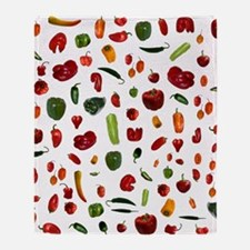 Chili Peppers Throw Blanket