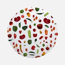 Chili Peppers Round Ornament