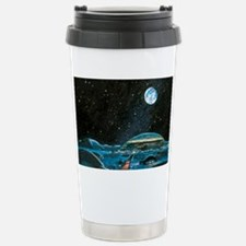 Earth seen above a city Travel Mug