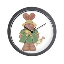 Girl Little Bunny Wall Clock