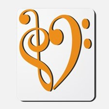 Trans_Heart_Orange Mousepad