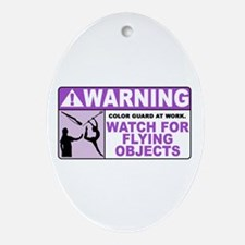 Flying Objects, Purple Oval Ornament