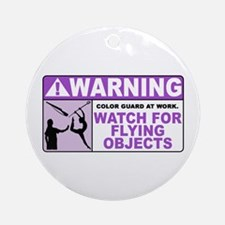 Flying Objects, Purple Ornament (Round)