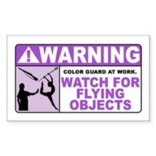 Flying Objects, Purple Rectangle Decal