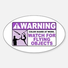 Flying Objects, Purple Oval Decal