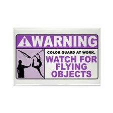 Flying Objects, Purple Rectangle Magnet