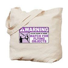 Flying Objects, Purple Tote Bag