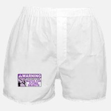 Flying Objects, Purple Boxer Shorts